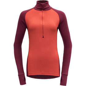 Devold Expedition Woman Zip Neck Dame beetroot